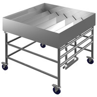 Winholt SSMIT-4848MLC/ADJ 48  Adjustable Stainless Steel Insulated Cold Food Display Table