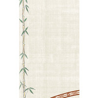 8 1/2 inch x 14 inch Menu Paper Asian Themed Bamboo Design Left Insert - 100/Pack