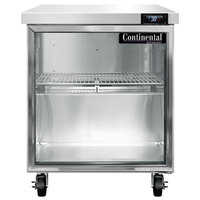Continental Refrigerator SW27-N-GD 27 inch Undercounter Refrigerator with Glass Door