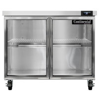 Continental Refrigerator SW36-N-GD 36 inch Undercounter Refrigerator with Glass Doors