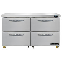 Continental Refrigerator SW48-N-U-D 48 inch Low Profile Undercounter Refrigerator with Four Drawers