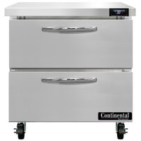 Continental Refrigerator SW32-N-D 32 inch Undercounter Refrigerator with Two Drawers