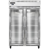 Continental Refrigerator 2R-N-GD 52 inch Two Section Glass Door Reach-In Refrigerator