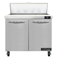 Continental Refrigerator SW36-N-10 36 inch 2 Door Refrigerated Sandwich Prep Table