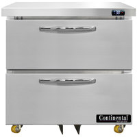Continental Refrigerator SW32-N-U-D 32 inch Low Profile Undercounter Refrigerator with Two Drawers