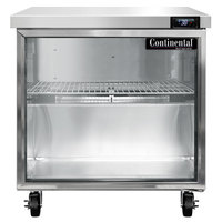 Continental Refrigerator SW32-N-GD 32 inch Undercounter Refrigerator with Glass Door