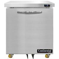 Continental Refrigerator SWF27-N-U 27 inch Low Profile Undercounter Freezer