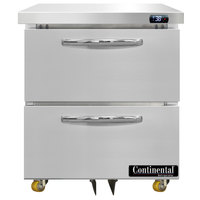 Continental Refrigerator SW27-N-U-D 27 inch Low Profile Undercounter Refrigerator with Two Drawers