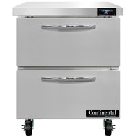 Continental Refrigerator SW27-N-D 27 inch Undercounter Refrigerator with Two Drawers