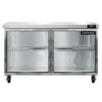 Continental Refrigerator SW48-N-GD 48 inch Undercounter Refrigerator with Glass Doors