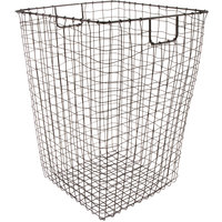 GET WB-301-MG Breeze 16 1/2 inch x 25 inch Square Metal Gray Storage Basket