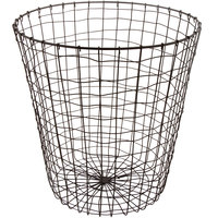 GET WB-312-MG Breeze 15 3/4 inch x 18 inch Round Metal Gray Storage Basket