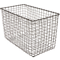 GET WB-303-MG Breeze 15 inch x 8 inch x 10 inch Rectangular Metal Gray Basket