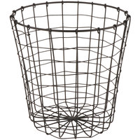 GET WB-317-MG Breeze 8 inch x 8 inch Round Metal Gray Storage Basket