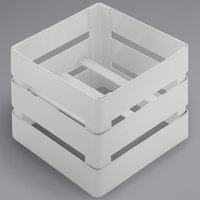 GET IR-724-W Curator 4 1/2 inch Square Elevated White Stand for Square Jar