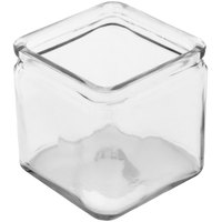 GET GL-444 Curator 4 inch x 4 inch Square 26 oz. Clear Glass Storage Jar