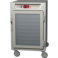 Metro C585-NFC-UPFS C5 8 Series Reach-In Pass-Through Heated Holding Cabinet - Full Length Solid / Clear Doors