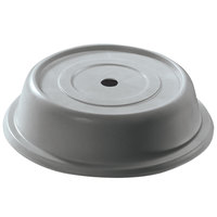 Cambro 124VS191 Versa 12 1/4 inch Granite Gray Camcover Round Plate Cover - 12/Case
