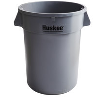 Continental 3200GY Huskee 32 Gallon Gray Round Trash Can