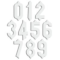 1 inch Plastic White Deli Tag Insert Numbers 0 to 9 - 50 of Each Number