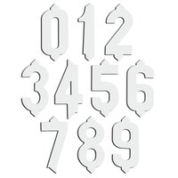 3/4 inch Plastic White Deli Tag Insert Numbers 0 to 9 with Plastic Case