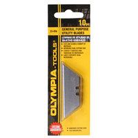 Olympia Tools 33-006 General Purpose Utility Knife Blade - 10/Pack