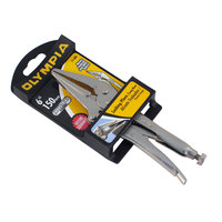Olympia Tools 11-306 6 inch Long Nose Locking Pliers with Wire Cutter