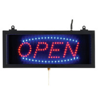 Aarco OPE02S Open LED Sign