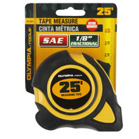 Olympia Tools 43-234 1 inch x 25' SAE Tape Measure