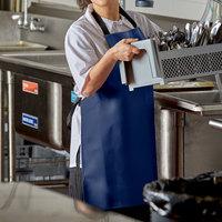Intedge Blue 1 Mil Adjustable Vinyl Dishwasher Apron - 28 inchL x 26 inchW