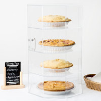 Cal-Mil 252 Classic Four Tier Acrylic Cake and Pie Display Case - 13 inch x 12 1/2 inch x 21 1/2 inch