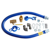 Dormont 1675KITB48 48 inch Gas Connector Kit with Quick-Disconnect, Two Elbows, and Restraining Cable - 3/4 inch Diameter