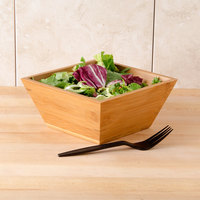 American Metalcraft BAM73 Square Bamboo Bowl - 7 inch x 3 3/8 inch