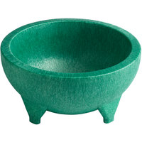 Choice Thermal Plastic 56 oz. Green Molcajete Bowl