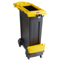 Rubbermaid 2032954 Slim Jim 23 Gallon Yellow Rim Caddy Kit with Container, Rim Caddy, and Dolly