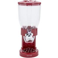Zevro KCH-06120 Red Single Canister Dry Food Dispenser