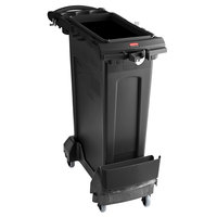 Rubbermaid 2032953 Slim Jim 23 Gallon Black Rim Caddy Kit with Container, Rim Caddy, and Dolly