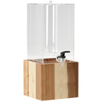 GET Enterprises Urban Renewal 3 Gallon Beverage Dispenser with Ice Chamber and 8 inch Urban Rustic Square Riser