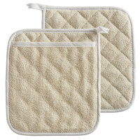 Choice 9 1/2 inch x 8 1/2 inch Terry Cloth Pot Holder / Pan Grabber with Pocket