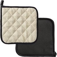 SafeMitt 8 inch x 8 inch 2-Sided Neoprene / Terry Cloth Pot Holder