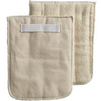 Choice 8 1/2 inch x 11 inch Terry Cloth Pan Grabber / Baker's Pad with Wrist Strap - 12/Pack