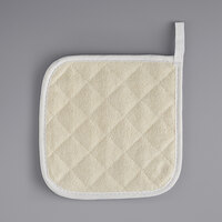 Choice 8 inch x 8 inch Square Terry Cloth Pot Holder   - 12/Pack