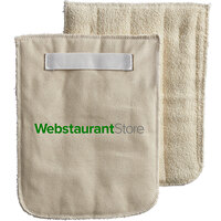 WebstaurantStore 8 1/2 inch x 11 inch Terry Cloth Pan Grabber / Baker's Pad with Wrist Strap