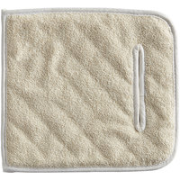 Choice 10 inch x 11 inch Terry Cloth Pan Grabber / Baker's Pad with Wrist Slot - 12/Pack