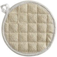 Choice 8 inch Round Terry Cloth Pot Holder - 12/Pack