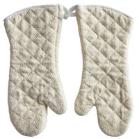 Choice 15 inch Terry Conventional Style Oven Mitts