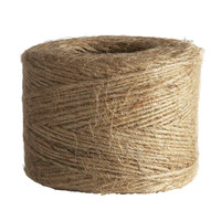 1-Ply Natural Biodegradable Jute Twine 1/5 lb. Tube