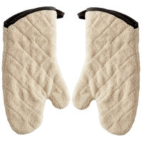 SafeMitt 15 inch Terry Oven Mitts with Steam Barrier