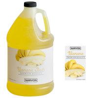 Narvon 1 Gallon Banana Slushy Syrup - 4/Case