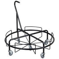 Continental 8325-D Corner'Round Black Recycling Station Dolly